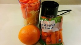 Orange Carrot Juice Smoothie Using Hamilton Beach Personal Blender